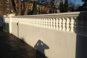 Restoration of overbridge wall